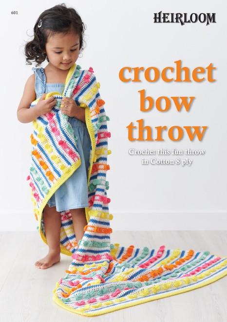 Heirloom Crochet Bow Throw