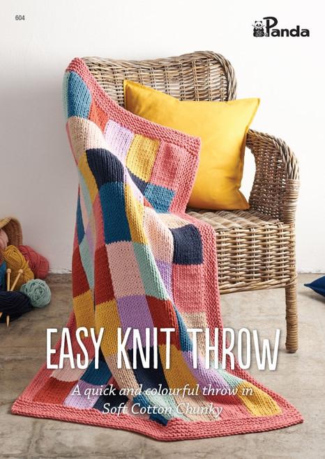 Panda Easy Knit Throw