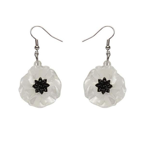 Erstwilder Poppy Field Drop Earings White