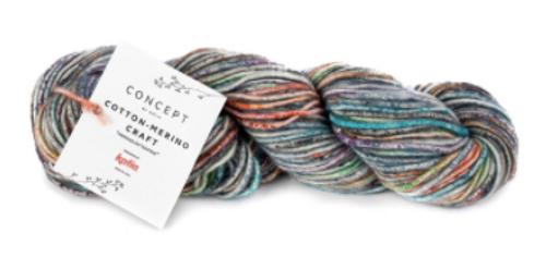 205 Green-Red-Grey Cotton Merino Craft