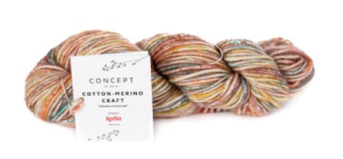 202 Blue-Yellow-Red Cotton Merino Craft