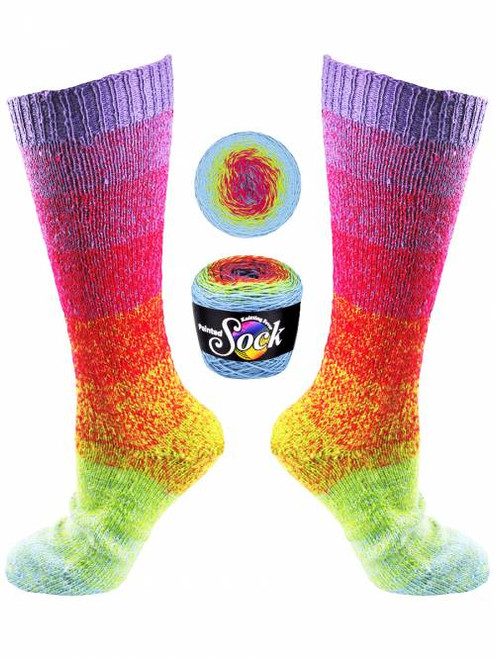 Knitting Fever Painted Sock #105 Yellowstone