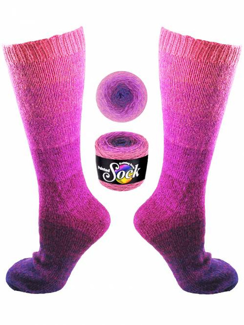 Knitting Fever Painted Sock #109 Wine Valley