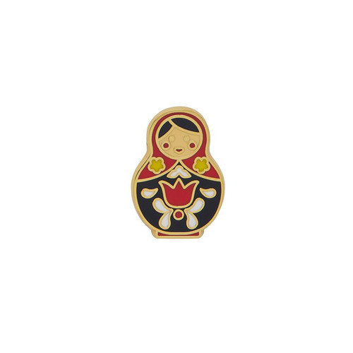 Matryoshka Memories Small Enamel Pin Red