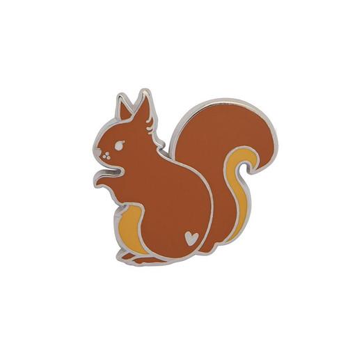 Scrupulous Squirrel Enamel Pin