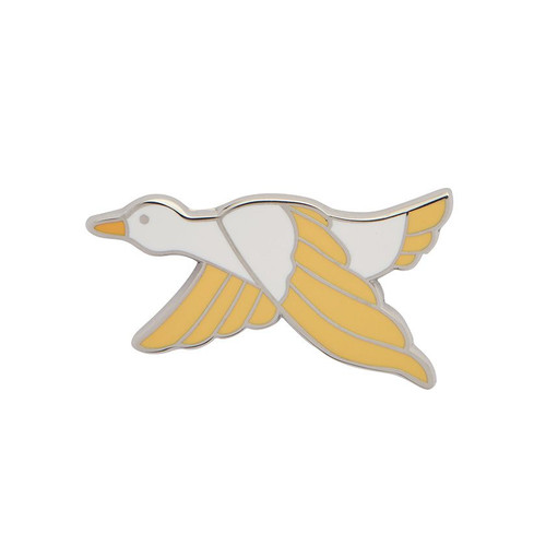 Dancing Duck Enamel Pin Yellow