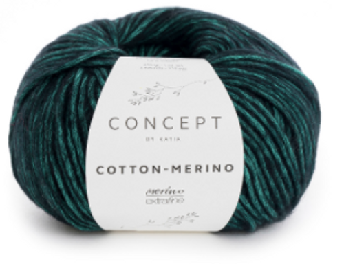 56 Mint Green Black Cotton Merino