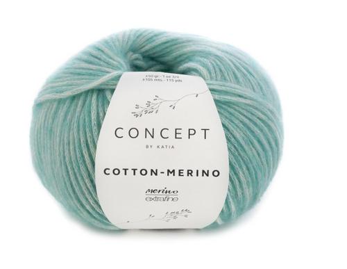 129 Light Green Cotton Merino