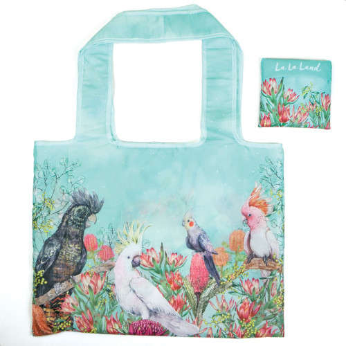 Foldable Shopper Bag Cockatoos of Australia
