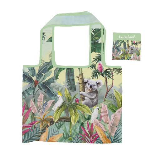 Foldable Shopper Bag Nature Dwellings Tropical