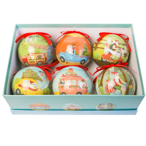 Bauble Set Travelling Santa