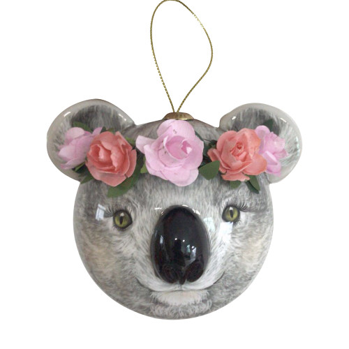 3D Bauble Koala Holly
