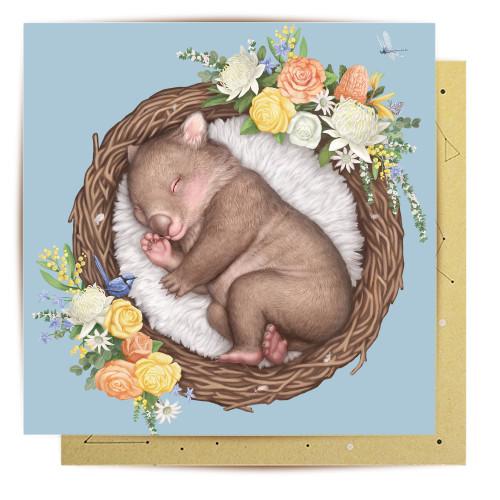 Mini Card Nested Baby Wombat