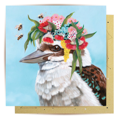 Mini Card Kookaburra Bees