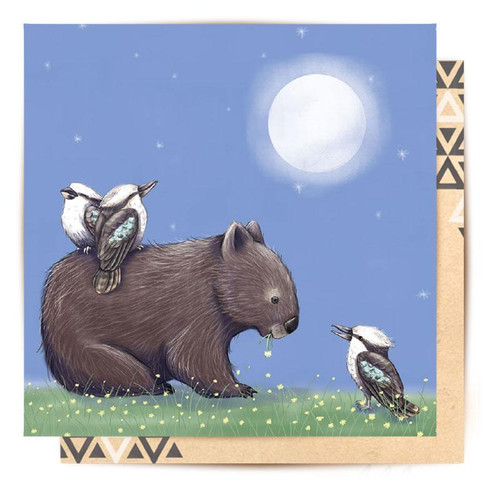 Mini Card Nighttime Wombat