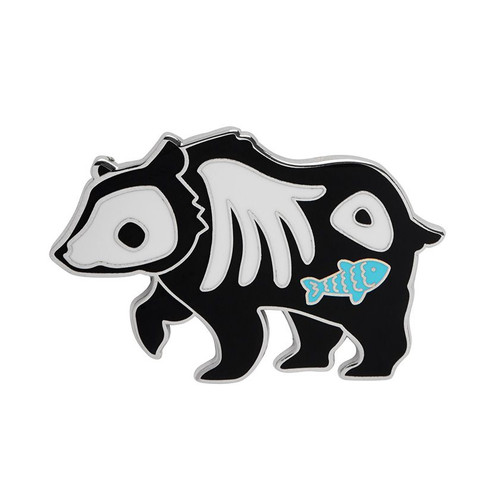 Grizzly Gruesome Enamel Pin