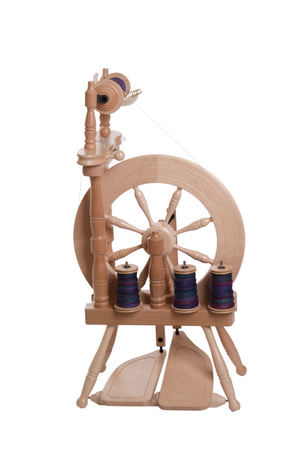 Traveller Double Treadle Single Drive Spinning Wheel
