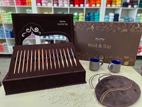 Knit & Sip Knitting Needle Gift Set