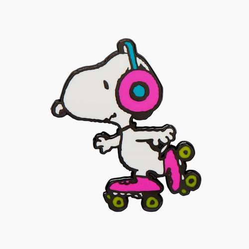 Erstwilder Snoopy On Skates Enamel Pin