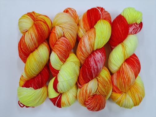 Lush 4ply Sock 'Phoenix Fire'