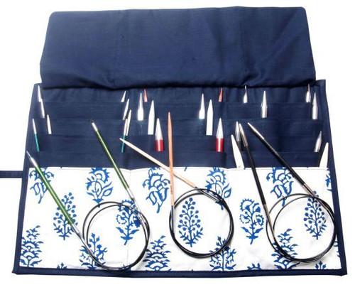 Navy Fixed Circular Needle Case