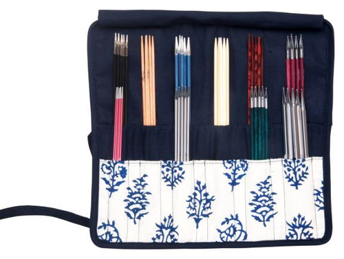 Navy Double Pointed Needle Case