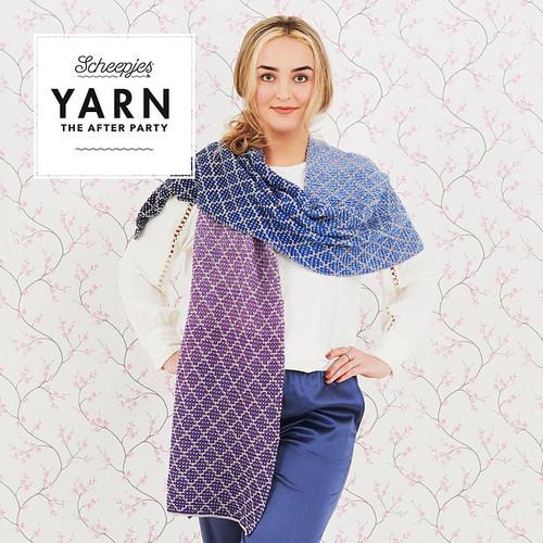 KNIT Lavender Trellis Wrap Kit