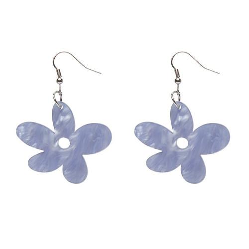Erstwilder Flower Ripple Resin Drop Earrings - Blue