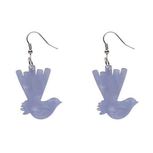 Erstwilder Wagtail Ripple Resin Drop Earrings - Blue