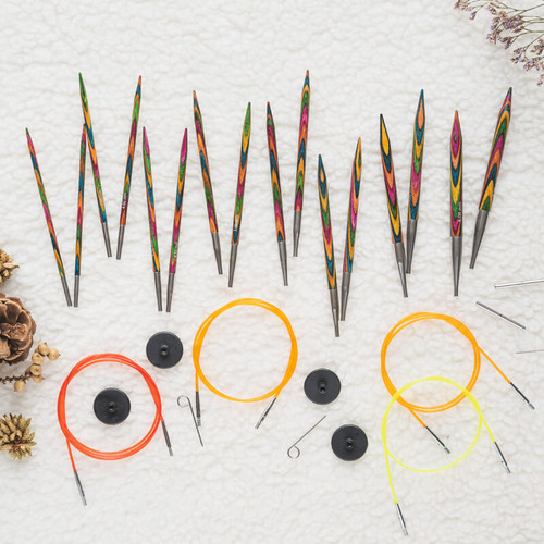 Symfonie Wood Interchangeable Compact Fine Knitting Set