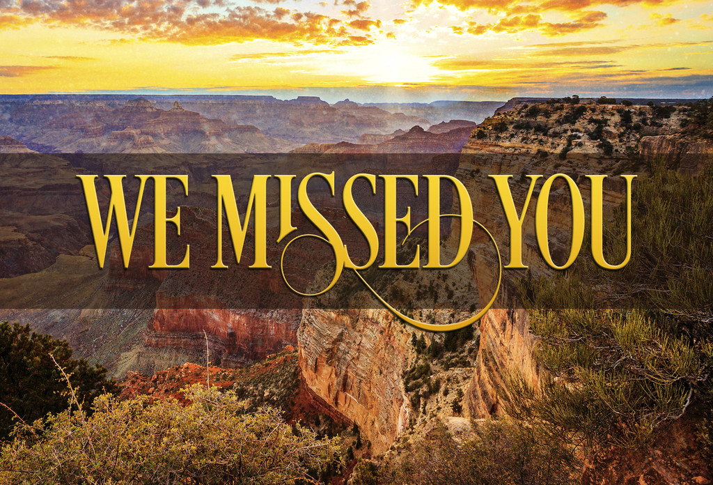 We Missed You Postcards - Pack of 25