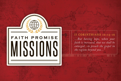 Faith Promise Commitment Card - Non-Perforated (B)
