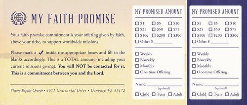 Faith Promise Commitment Card - Perforated (C)