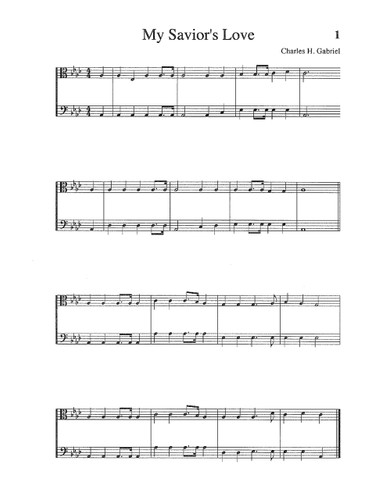 Songs & Hymns of Revival Orchestration: Viola, Cello, String Bass