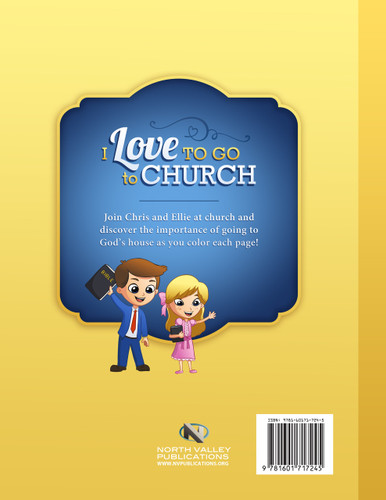Coloring Book - I Love to Go to Church