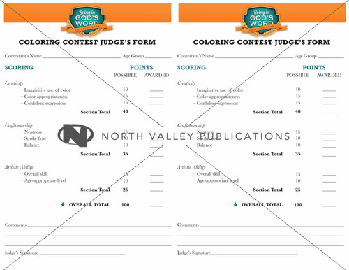 Coloring Book - Coloring Contest Custom Package