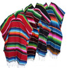 Assorted mexican sarape poncho