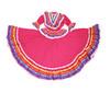 Ethnic Identity Girls Mexican Dress Vestido Jalisco (Magenta)