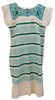 telar dress off white with teal