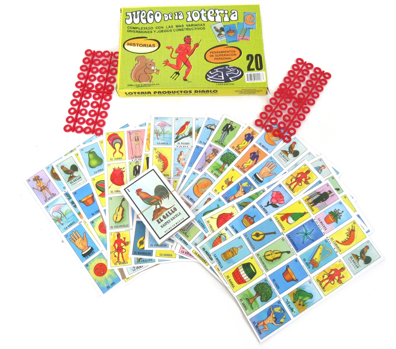 Bingo Game Deck of Cards Fiesta Mexican Loteria Deck