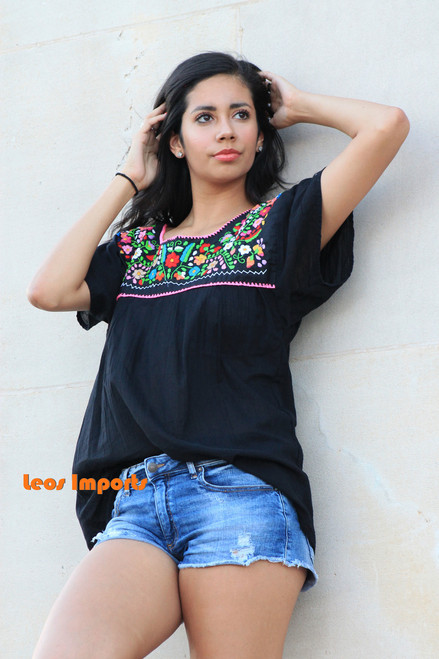 black mexican blouse