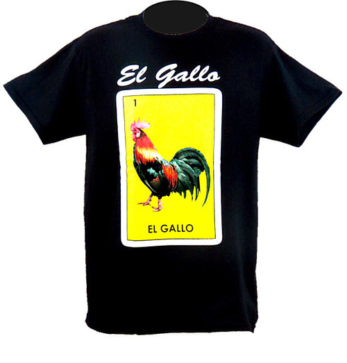 1 El Gallo Mexican Loteria T Shirts Tees Cotton T Shirts