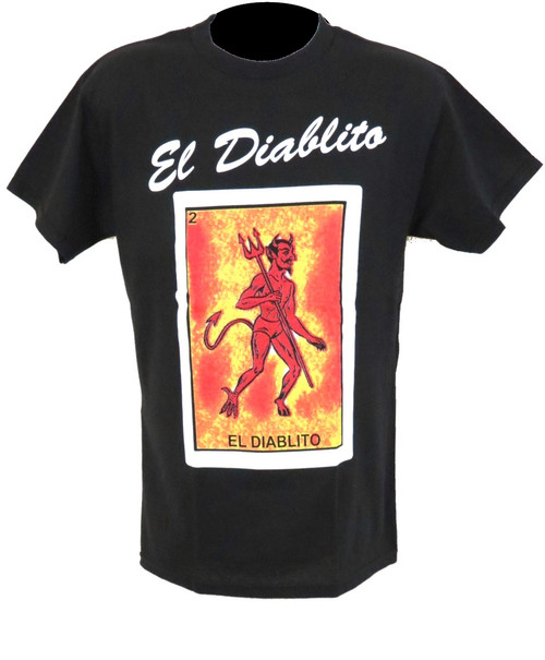 el diablito loteria t shirt