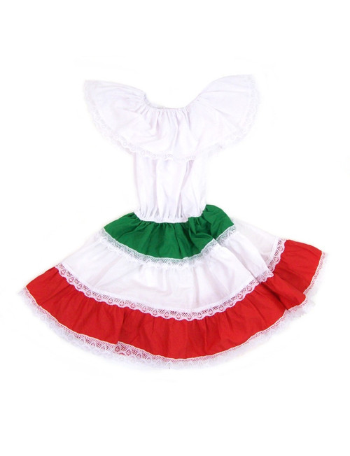 Dominican Cuban Colors Dress Ethnic Ribbons Made in Mexico Puerto Rican