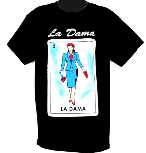 la dama loteria t shirt