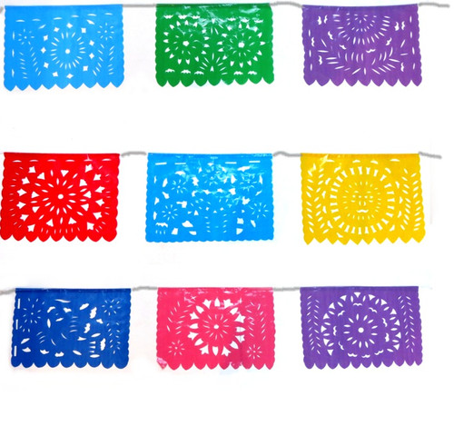 small mexican party flags