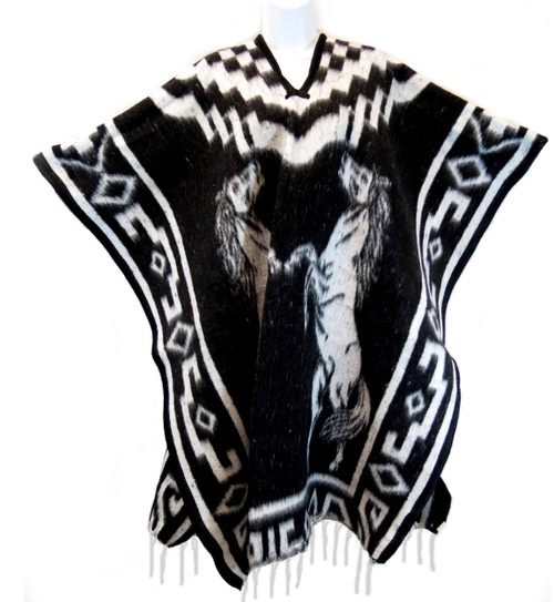 mexican blanket poncho