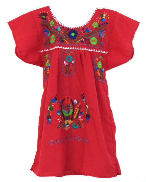 mexican dress puebla for girls