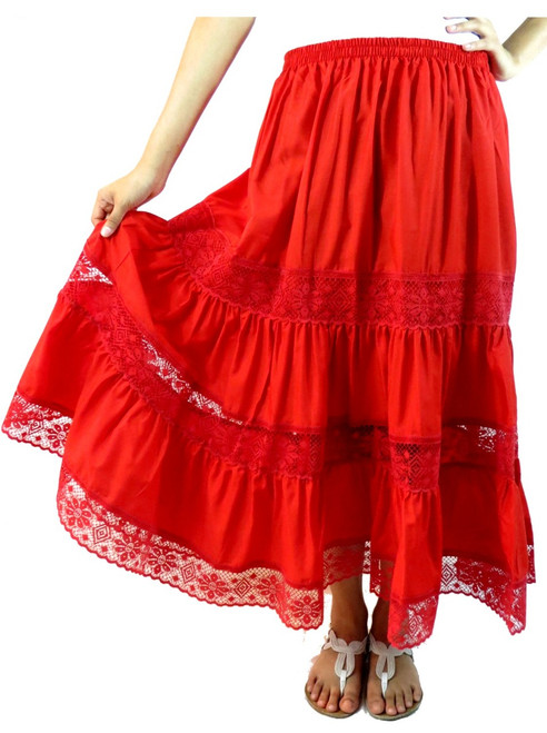 mexican red skirt