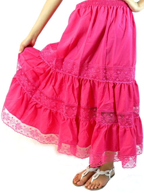 pink Mexican skirt